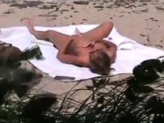 Voyeur Catches Milf On A Beach