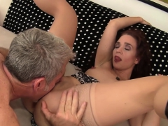 Horny Granny And Grandpa Kiss Each Other She Gets Her Tits