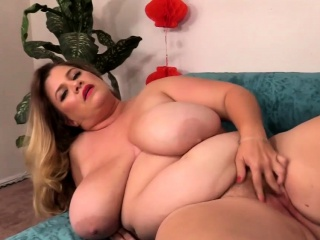 Big boobed BBW shows her huge tits ass and pussy She rubs