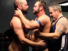 Raw Locker Room Bear Threesome