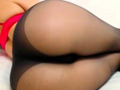 Nice Ass In Black Pantyhose