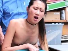 Shoplifter Teen Jade Noir spreads legs for LPs big cock