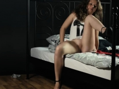 Curly Teen Flashing Tits And Little Pussy
