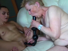 Bigtitted Granny Has Lesbian Sex With A Cutie