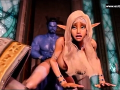 Her Blue Devil Has A Lot Of Cum