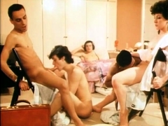 Bondage Blindfolded Gay Group Blowjob