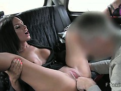 Busty Tanned Milf Fucked In Fake Taxi From Behind