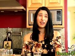 Kinky Trans Prostitute Gets Jizzed