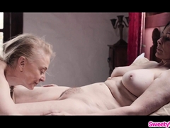 Nun gives in to temptation nd eats pussy