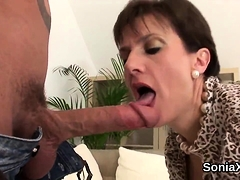 Cheating English Milf Lady Sonia Shows Off Her Gigantic Boob