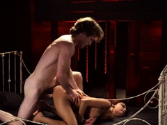 Shadow slaves and rough anal big tits bondage Poor little Ja
