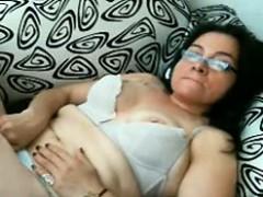 Latin Granny Masturbating