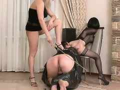 Humiliated By Two beautiful Femdoms